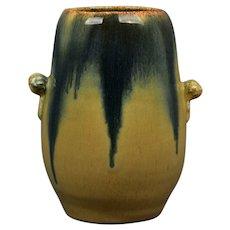 Muncie Pottery 1929 Blue Peachskin Bullet Vase #402-6