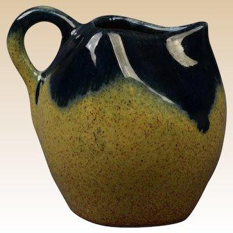 Muncie Pottery 1929 Black Peachskin Creamer/Pitcher #416-4