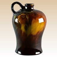 Owens Pottery 1906 Sunburst Spirit Jug with Rose Decoration #793
