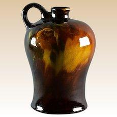 Owens Pottery 1906 Sunburst Spirit Jug with Rose Decoration #793
