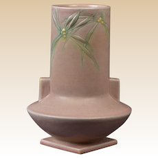 Roseville Pottery 1937 Pink Cylindrical Dawn Vase #829-8