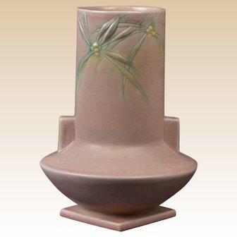 Roseville Pottery 1937 Pink Cylindrical Dawn Vase #829-8