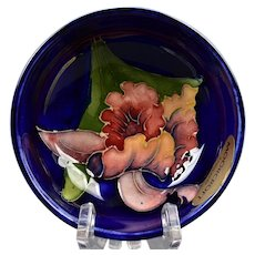 Moorcroft Pottery 1950-86 Blue Iris Small Bowl Sticker