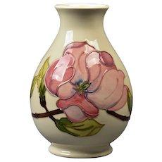 Moorcroft Pottery 1950-86 Pink Magnolia White Lobed Shape Vase WM