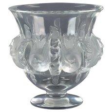 Lalique Crystal pre-1978 Dampierre Sparrow Vase