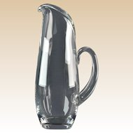 Steuben Crystal 1955 Split Handle Martini Pitcher #8077