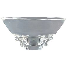 Steuben Crystal 1957 Tab Indent Bowl Donald Pollard