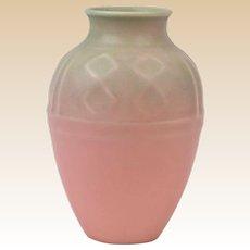 Rookwood Pottery 1936 Mat Pink Native American Geometric Vase #6464