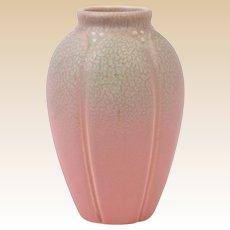 Rookwood Pottery 1927 Matt Pink Frogskin Lotus Leaf Vase #2088