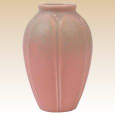 Rookwood Pottery 1928 Matt Pink Frogskin Lotus Leaf Vase #2088