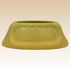 Rookwood Pottery 1911 Yellow Mat Valet Deco Design #1188