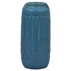 Rookwood Pottery 1915 Dark Blue Mat Art Deco Vase #1747