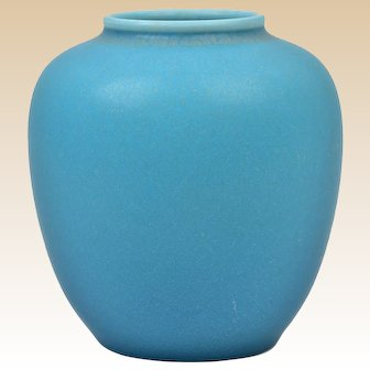 Rookwood Pottery 1933 Matt Turquoise Round Vase #6180F
