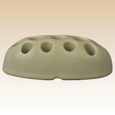 Rookwood Pottery 1927 Ivory Mat Oblong Flower Frog Insert #2612