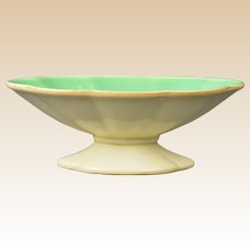 Cowan Pottery 1928 Jade Velour Oblong Comport C 838