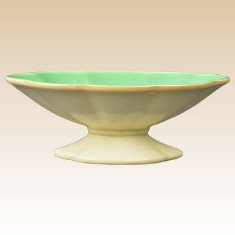 Cowan Pottery 1928 Jade Velour Oblong Comport C 838