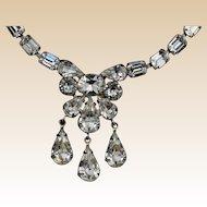 Vintage Eisenberg Swarovski Crystal Teardrop Necklace