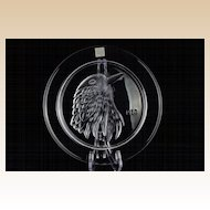 Lalique 1973 Limited Edition Annual Jayling Bird Crystal Plate
