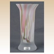 "Art Glass ""Zelda"" Kosta Boda Vase Artist Signed Monica Backstrom"