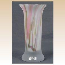 """Art Glass """"Zelda"""" Kosta Boda Vase Artist Signed Monica Backstrom"""