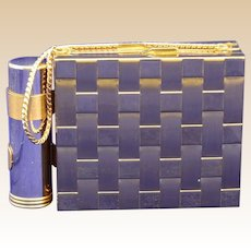 Early Gold-tone Dual Compact with Lipstick