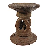 African Tribal Art: Benin Bronze Stool