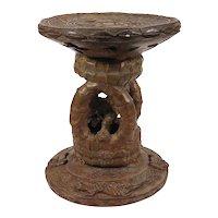 African Tribal Art: Benin Bronze Stool