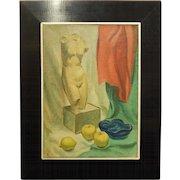 Brill: Still Life Oil Painting c.1950