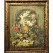 H.L.Severance:  Floral Still Life, Oil/Canvas c.1920