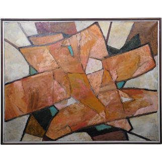 Original MCM Abstract Oil Painting With Heavy Impasto