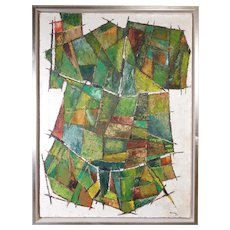 Original MCM Abstract Oil Painting by Robinson Murray