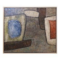 Heavy Impasto Original MCM Abstract Oil Painting