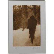 Doug Neal: Woman In Snow, Photogravure