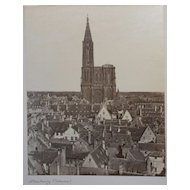 Strasbourg Cathedral Antique Albumen Photo