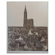 Strasbourg Cathedral Antique Albumen Photo