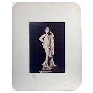 Antique Albumen Photograph of Classical Sculpture