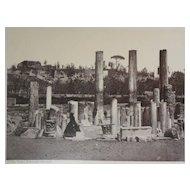 1870's Albumen Photo Of Roman Temple