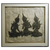 Stone Rubbing Of Thai Musicians #1
