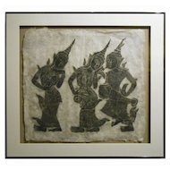 Stone Rubbing Of Thai Musicians #2