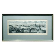 Blue Danube European Etching