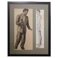 Bob Le Rose: Two Male Figure Studies