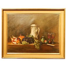 Classic Still Life Oil Painting, Signed