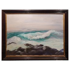 Chaffee: Seascape Oil Painting
