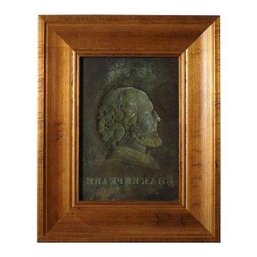 Antique Copper Mould of Shakespeare's Portrait