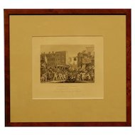 Hogarth's Industry And Idleness, Plate 12, 1800's Engraving