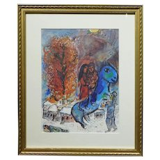 Marc Chagall:  Au Village, Limited Edition Lithograph