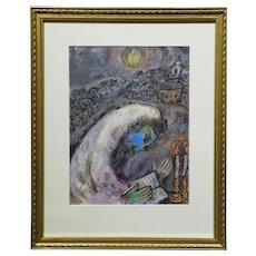 Marc Chagall:  L'Homme en Priere, Limited Edition Lithograph