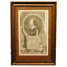 Oliver Cromwell Dutch engraving