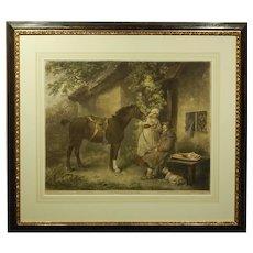 English 1802 Mezzotint Engraving After G. Morland