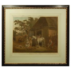 Antique English Mezzotint Engraving After G. Morland c.1800